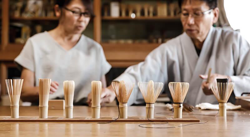 茶筌制作工程見学